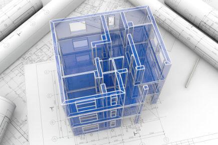 3D model budovy (ilustrativní)